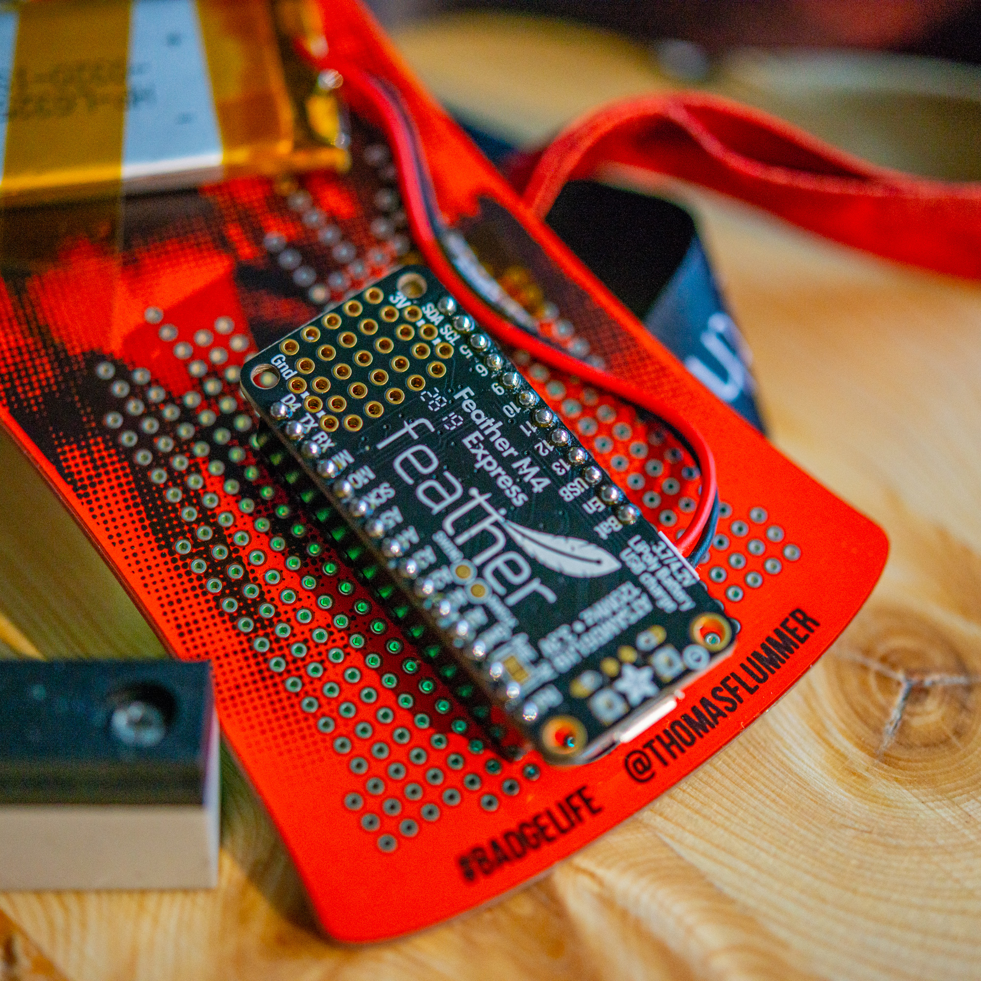 36c3 badge with Adafruit Feather M4 Express